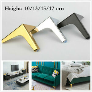 Metal Triangle Furniture Legs Cabinet Cupboard Sofa Couch Feet Replacement