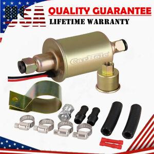 CarBole Universal Electric Low Fuel Pump Carburetor 12V 5-9PSI Gas Diesel Inline