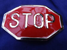 Belt Buckle Stop Sign Novelty