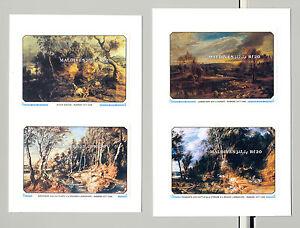 Maldives #1502-1505 Rubens Art 4v S/S Imperf Proofs on 2v Cards