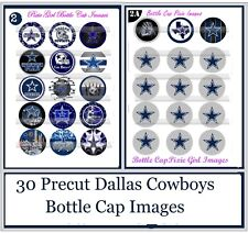Dallas Cowboys Football Logos NFL 30 Precut Bottle Cap Images Cup Cake toppers