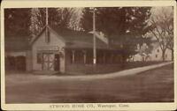 Wauregan CT Atwood Hose Co Fire Station c1910 Postcard
