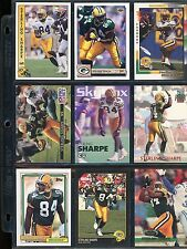 9 DIFFERENT STERLING SHARPE-GREEN BAY PACKERS CARDS PRE-MOUNTED IN 9 POCKET PAGE