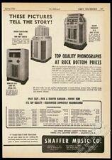 1947 Seeburg 8200 Commander Wurlitzer 616 jukebox photo vintage trade print ad