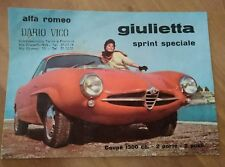 ALFA ROMEO 1959 SS SPRINT SPECIALE CONCESSIONARIA BROCHURE PROSPEKT DEPLIANT