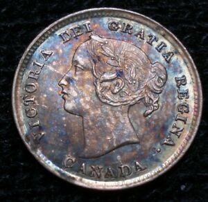 Canada Five Cents 1893 Uncirculated Beautiful Toning