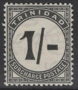 "TRINIDAD SGD25a 1945 1/= BLACK POSTAGE DUE ""UPRIGHT STROKE"" MTD MINT"
