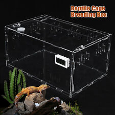 New listing Tank Cage Pet Reptile Enclosure Habitat For Snake Insect Acrylic 29x19x15Cm
