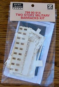 Z SCALE~VERY HARD TO FIND~MTL 799 90 914~TWO STORY MILITARY BARRACKS KIT-NEW