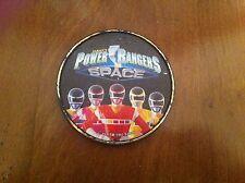 vintage 1997 Saban's Power Rangers Space button Mighty Morphin Plastic clip RARE