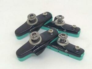Celeste Color Brake Pads With Shoes for Road Bike Alloy Rims (2 Pairs) ->Bianchi