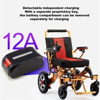 Folding Lightweight Electric Wheelchair Old Elderly Disabled W/ Damping System