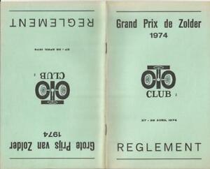 1974 April Zolder Belgium GP Regulation Rules Book David Hobbs F1 **ON SALE**