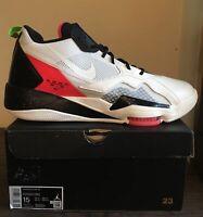 Nike Jordan Zoom '92 Men's Shoes CK9183-100 Sail/Black/Flash Crimson Size 15