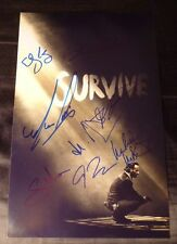 THE WALKING DEAD Cast (x9) Hand-Signed 11x17 (Season 5) photo (Reedus)(PROOF)