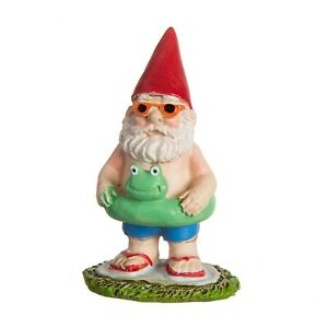 Mini Gnome Floatie Figurine DA 30050258 Miniature Fairy Garden