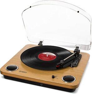 Plattenspieler ION Audio Max LP USB Retro integriertem Lautsprecher Braun Holz