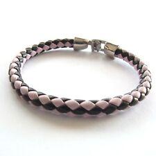 Lederarmband Damen geflochten bicolor 20 cm Surferarmband Modeschmuck bracelet