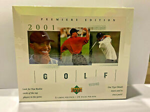 Upper Deck 2001 Golf Hobby Box Sports Trading Card - Tiger Woods Possible