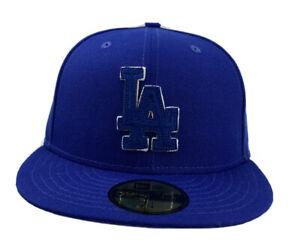 Los Angeles Dodgers LA Suede Patcher New Era 59Fifty Fitted cap hat blue