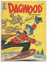 Dagwood #52 1957 Australian Snow Shoes & Ducks Cover!
