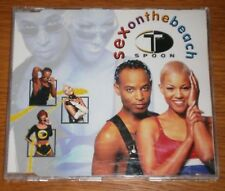 T SPOON - SEX ON THE BEACH - CD SINGLE - 4 MIXES CD VG+ CASE VG