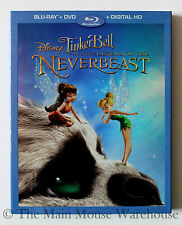 TinkerBell Legend of The NeverBeast Blu-ray DVD Digital Copy Slipcover Included
