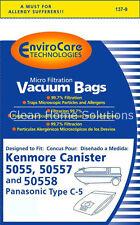 Sears Kenmore Panasonic 5055 50557 50558 Vacuum Bags Type C & Q Micro Filtration