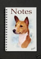 Basenji Dog Notebook/Notepad with small image on every page - by Starprint