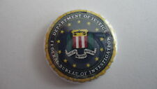 US FBI Department of Justice 25mm Button Pin Lapel Badge. New