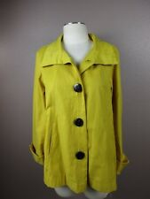 *GALLERY* SIZE MP WOMEN'S YELLOW BUTTON DOWN LONG SLEEVE JACKET W/SIDE POCKETS