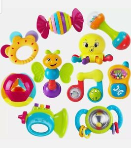 iPlay, iLearn 10pcs Baby Rattles Teether, Shaker, Grab and Spin Rattle, Musical