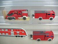 K953-0,5# 3x Wiking HO Magirus Feuerwehr FW, 610 LF 16, 630 KW 15, TOP+1xOVP