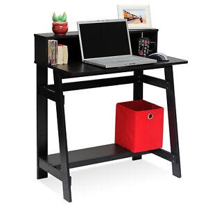 Modern A Frame Home Office Computer Study Desk - Espresso