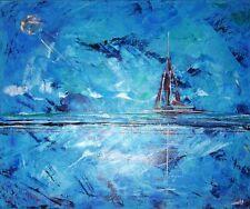 Original-direkt-vom-Künstler Zeitgenössische abstrakte Malerei für Acryl auf Seefahrt & Schiff