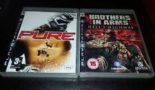 SONY Pure (PS3) - BROTHERS IN ARMS HELLS HIGHWAY USED *VGC*  BOTH COMPLETE