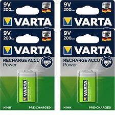 4 x Varta 9V Block 56722 Akku 6HR61 8,4 V NiMH 200mAh im Blister Ready To Use