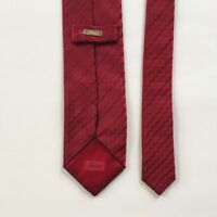 "Brioni tie red blue 100% silk l 60"" w 3.5"" made in Italy necktie pa0667"