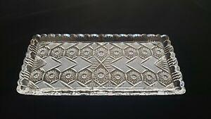 Bohemian Vintage American Brilliant Period cut crystal glass ABP tray