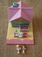 Vintage Polly Pocket Bluebird 1993 Beach Cafe House Complete C1
