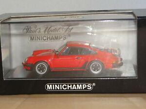 Porsche 911 1975 turbo rosso red Minichamps 1/43