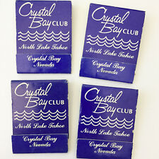 Crystal Bay Club North Lake Tahoe Vintage Matchbook Covers Lot of 4