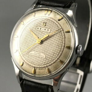 OH serviced, Vintage 1950's SEIKO SUPER 15J Rare Dial Hand-winding Watch #586