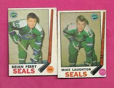 1969-70 OPC SEALS BRIAN PERRY RC + MIKE LAUGHTON RC  CARD (INV# C5939)