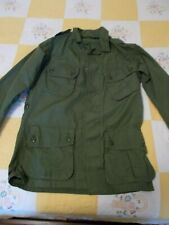 Vintage Green Army Military Combat Coat Tropical Shirt X-Small Regular