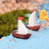 Segelboot Miniatur Miniatur Figur Garten Puppenhaus Dekor Micro Landschaft YR
