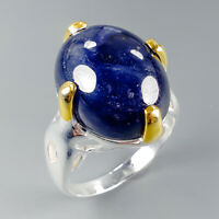 Vintage Art Natural Blue Sapphire 925 Sterling Silver Ring Size 8.5/R114997