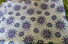 Vintage single purple flower duvet cover side opening 70s?