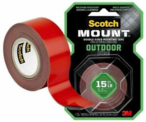 Mounting Outdoor Tape Scotch 3m Exterior Double Sided Heavy Duty Surface Multi