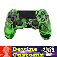 Neon Green Camo PS4 playstation controller rubber case cover protect Camouflage